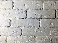 Гипсовая декоративная плитка (кирпич) Римская белая