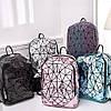 Яркий блестящий женский рюкзак 20 л геометрический с каплями воды – Бао Бао Амина, Bao Bao Issey Miyake 3054, фото 4