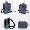 Яркий блестящий женский рюкзак 20 л геометрический с каплями воды – Бао Бао Амина, Bao Bao Issey Miyake 3054, фото 8