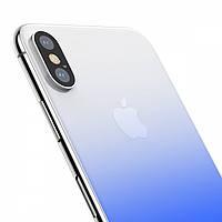 Защитное стекло Baseus Coloring на заднюю панель Apple iPhone X Blue (PG-000309)