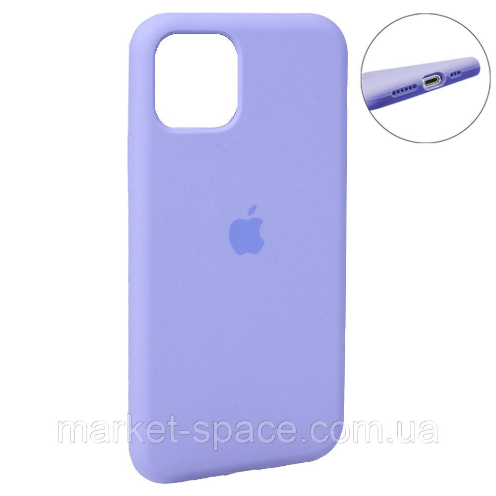 """Чехол силиконовый для iPhone 11. Apple Silicone Case, цвет """"Lavander (41)"""" (с закрытым низом)"""