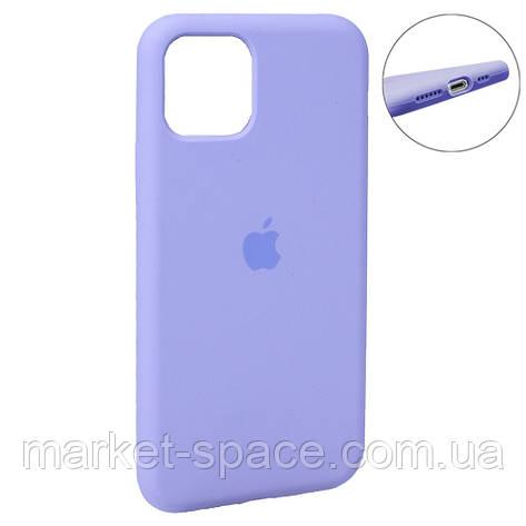"""Чехол силиконовый для iPhone 11. Apple Silicone Case, цвет """"Lavander (41)"""" (с закрытым низом), фото 2"""