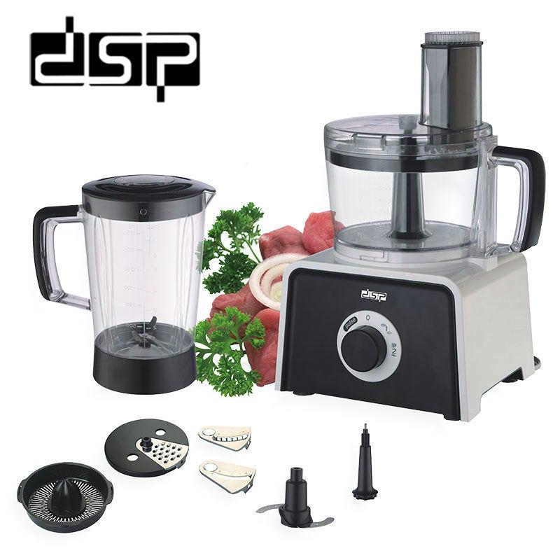 Кухонный комбайн, нарезка, миксер, соковыжималка, DSP KJ3002B, 7в1, 400 Вт.