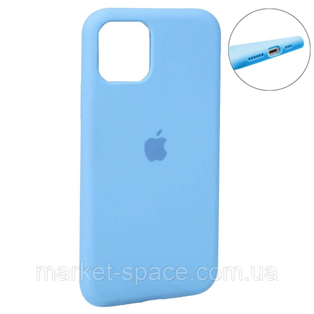 """Чехол силиконовый для iPhone 11. Apple Silicone Case, цвет """"Blue (16)"""" (с закрытым низом)"""