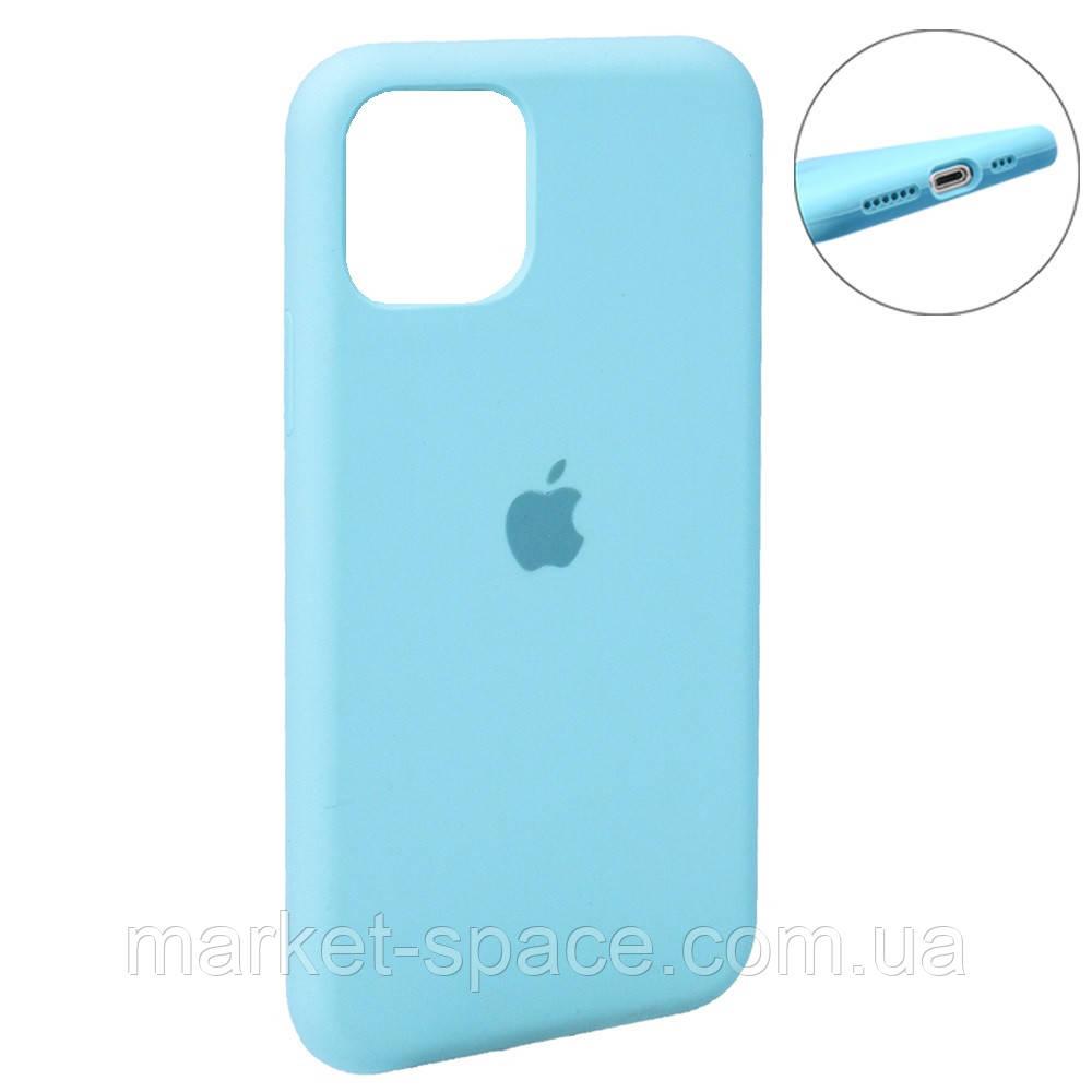 """Чехол силиконовый для iPhone 11. Apple Silicone Case, цвет """"Spearmint (21)"""" (с закрытым низом)"""