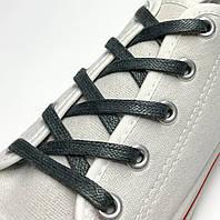 Шнурки с пропиткой плоские серо-зеленый 70 см (Ширина 5 мм), фото 1