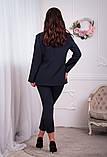 Женский брючный костюм тройка пиджак+майка+брюки батал размер:48-50,52-54,56-58,60, фото 5