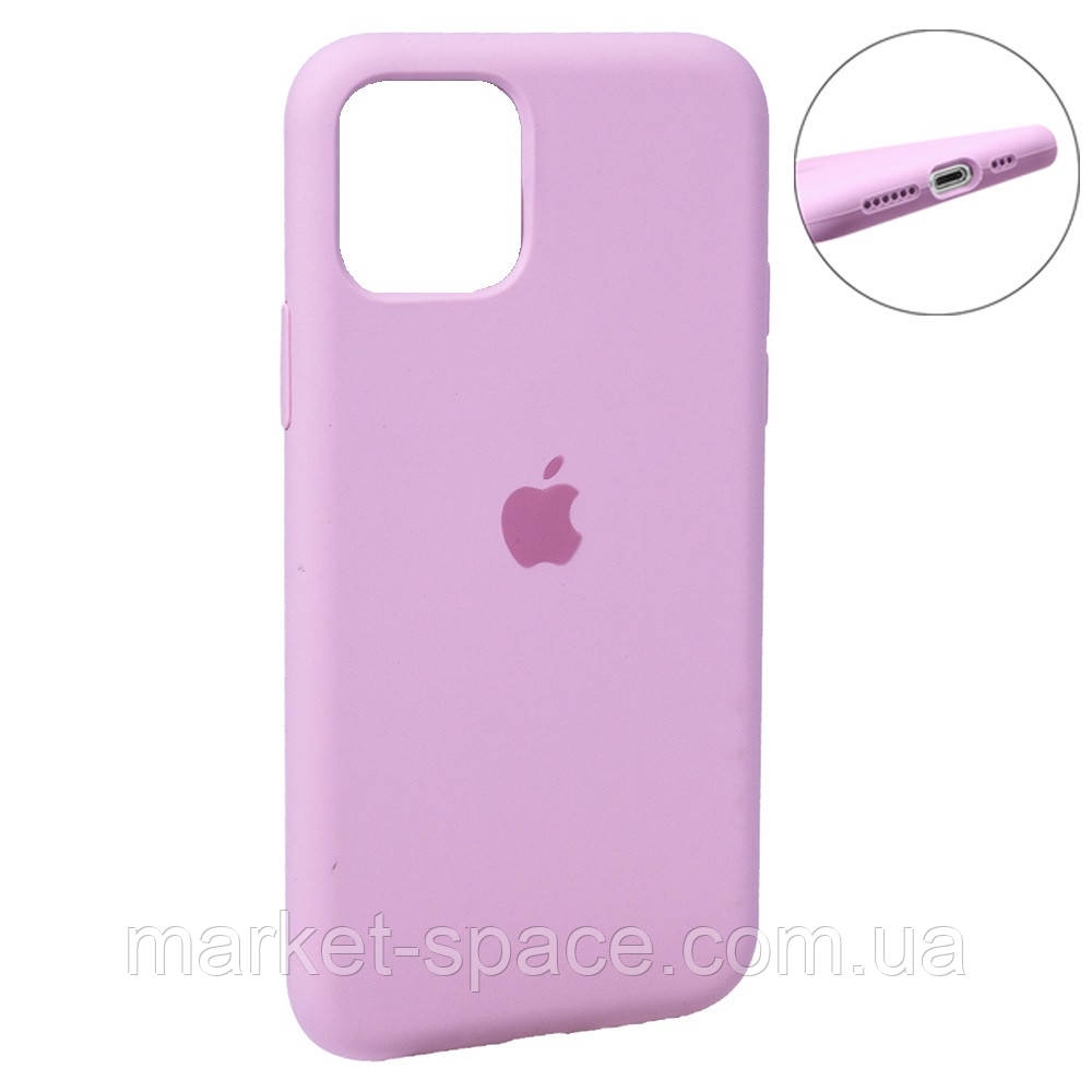 """Чехол силиконовый для iPhone 11. Apple Silicone Case, цвет """"Pink (6)"""" (с закрытым низом)"""