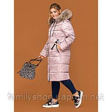 Зимнее женское пальто с натуральным мехом енота, фото 2