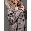 Зимнее женское пальто с натуральным мехом енота, фото 4