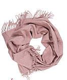 Теплый шарф с бахромой 190х70 см цвет белый, фото 3