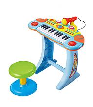Детское пианино-синтезатор BB33 на ножках со стульчиком Синий 11
