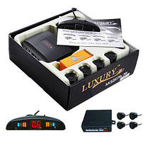 Автомобильный парктроник Luxuryна 4 датчика дисплей