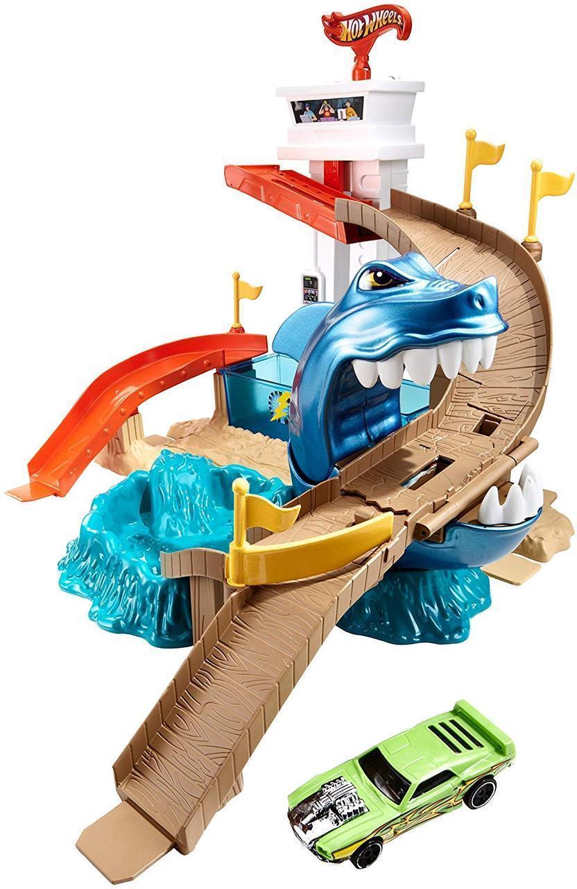 Трек Хот вилс Атака акулы трэк Hot Wheels Color Shifters Sharkport Showdown охота на акулу измени цве оригинал