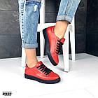 Женские кеды красного цвета (под бренд) ,натуральная кожа 41 ПОСЛЕДНИЙ РАЗМЕР, фото 2