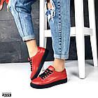 Женские кеды красного цвета (под бренд) ,натуральная кожа 41 ПОСЛЕДНИЙ РАЗМЕР, фото 3
