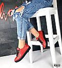 Женские кеды красного цвета (под бренд) ,натуральная кожа 41 ПОСЛЕДНИЙ РАЗМЕР, фото 6