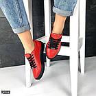 Женские кеды красного цвета (под бренд) ,натуральная кожа 41 ПОСЛЕДНИЙ РАЗМЕР, фото 5