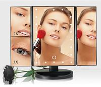 Дзеркало для макіяжу потрійне з LED підсвічуванням (90475)