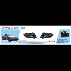 Фары дополнительные модель Mazda 6 2003-05/MZ-056W/эл.проводка