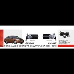 Фары дополнительные модель Chevrolet Aveo Sedan II/2007-11/CV-304E-W/эл.проводка