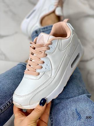 Белые кроссовки на высокой платформе, фото 2
