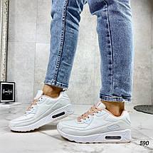 Белые кроссовки на высокой платформе, фото 3