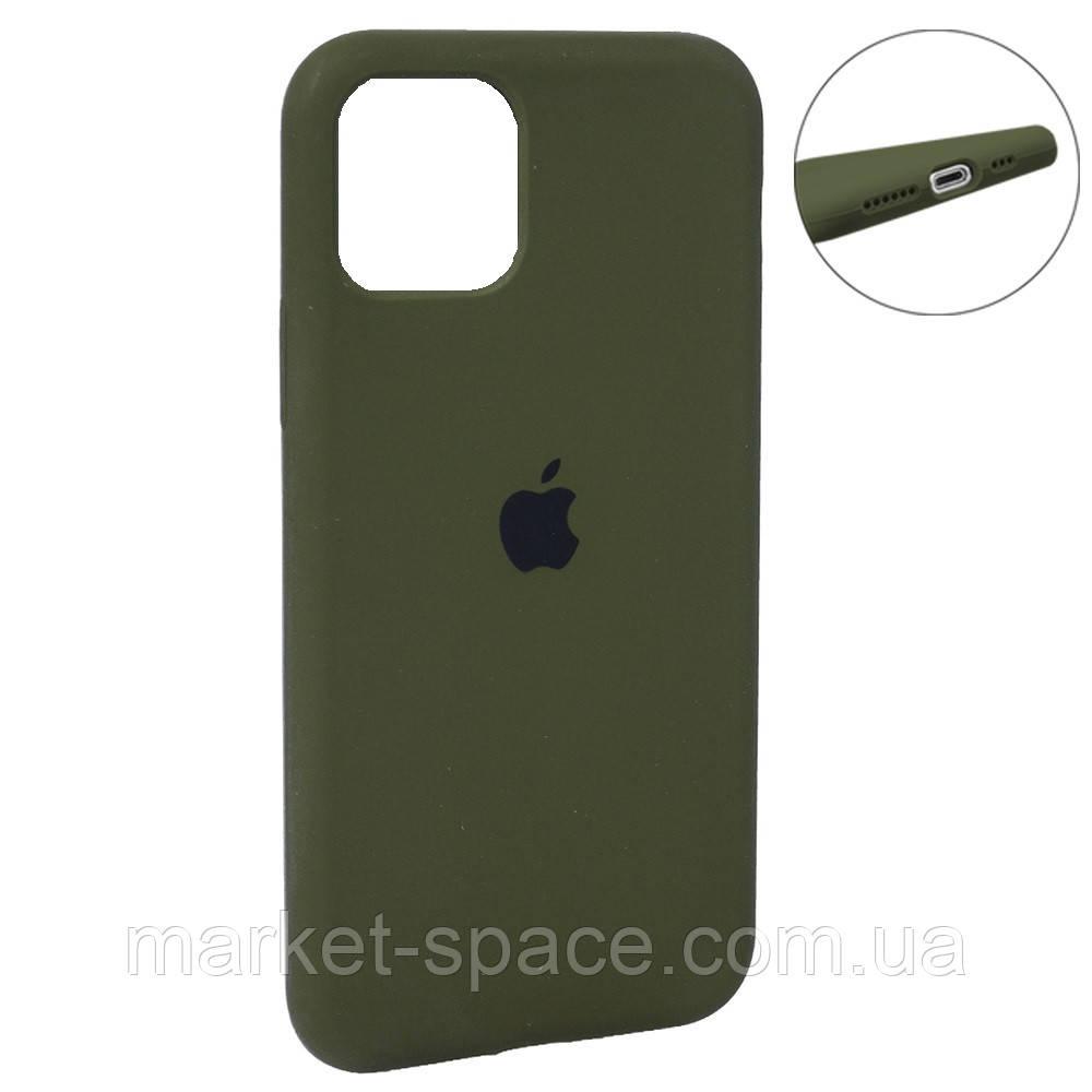 """Чехол силиконовый для iPhone 11 Pro. Apple Silicone Case, цвет """"Khaki (48)"""" (с закрытым низом)"""