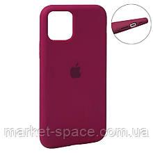 """Чехол силиконовый для iPhone 11 Pro. Apple Silicone Case, цвет """"Rose Red (36)"""" (с закрытым низом)"""