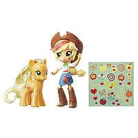 Набор My Little Pony Applejack кукла Эпплджек и пони с блестками - оригинал Хасбро Glitter Pony Equestria Girl