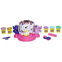 Набор Стильные прически пони Кантерлот Плей До Play-Doh My Little Pony Canterlot Court Селестия, Луна, Искорка