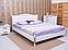 Кровать Прованс патина и фрезеровка мягкая спинка ромбы.ТМ Олимп, фото 2
