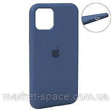 """Чехол силиконовый для iPhone 11 Pro. Apple Silicone Case, цвет """"Cobalt Blue (57)"""" (с закрытым низом)"""