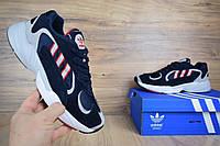Кроссовки в стиле Adidas Yung 1 синие с красным, фото 1