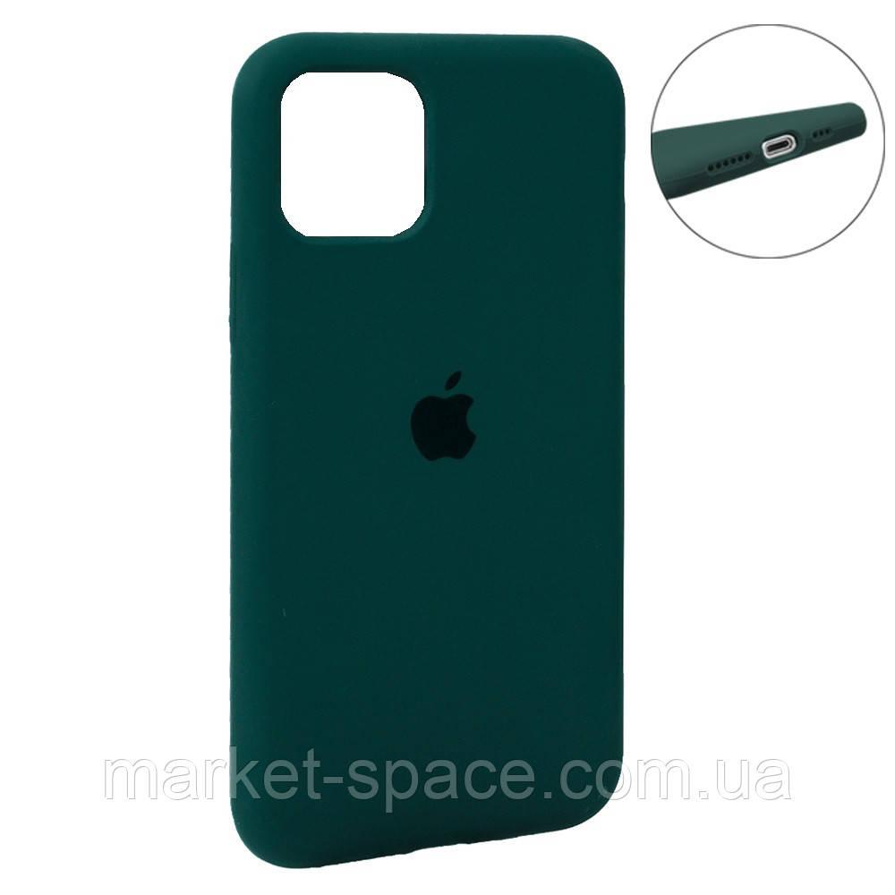"""Чехол силиконовый для iPhone 11 Pro. Apple Silicone Case, цвет """"Pine Green (20)"""" (с закрытым низом)"""