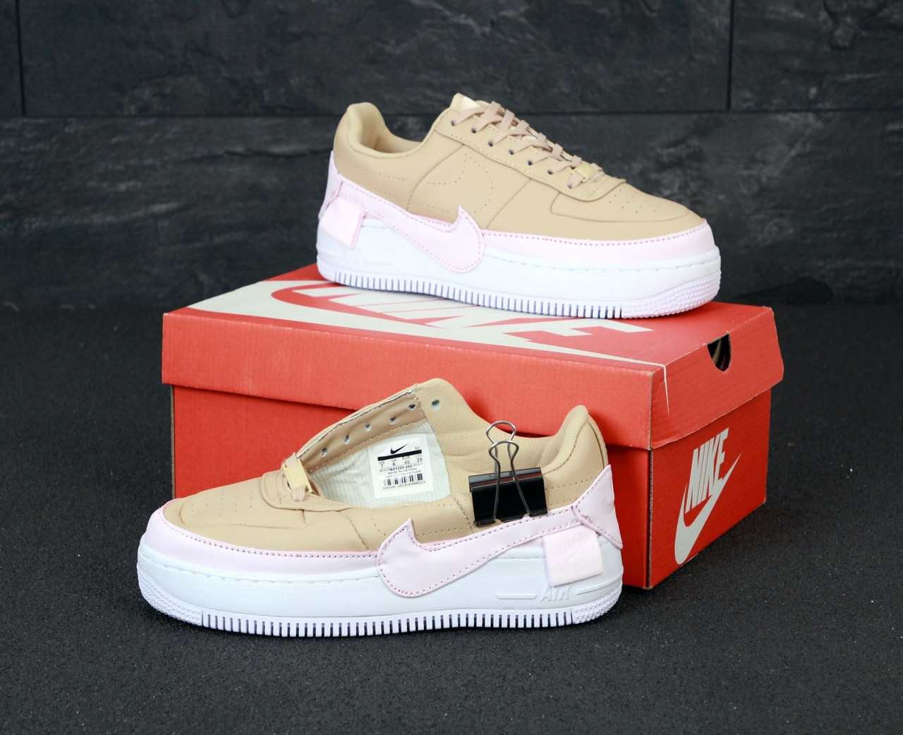 37 + nike air force 1 jester red and white