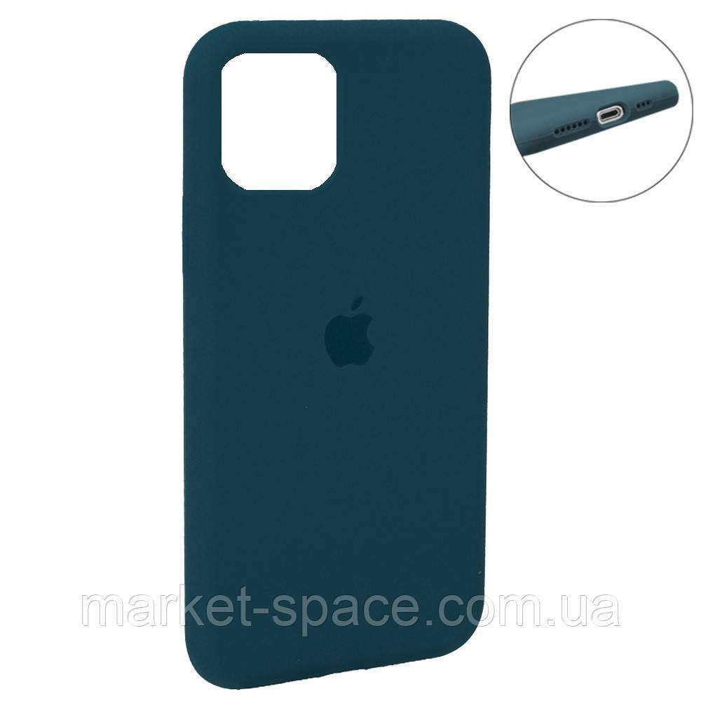 """Чехол силиконовый для iPhone 11 Pro. Apple Silicone Case, цвет """"Pacific Green (35)"""" (с закрытым низом)"""