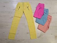 Котоновые брюки для девочек оптом, KeyiQi, 134-164 рр.