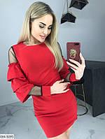 Стильное короткое платье с воланами арт 359