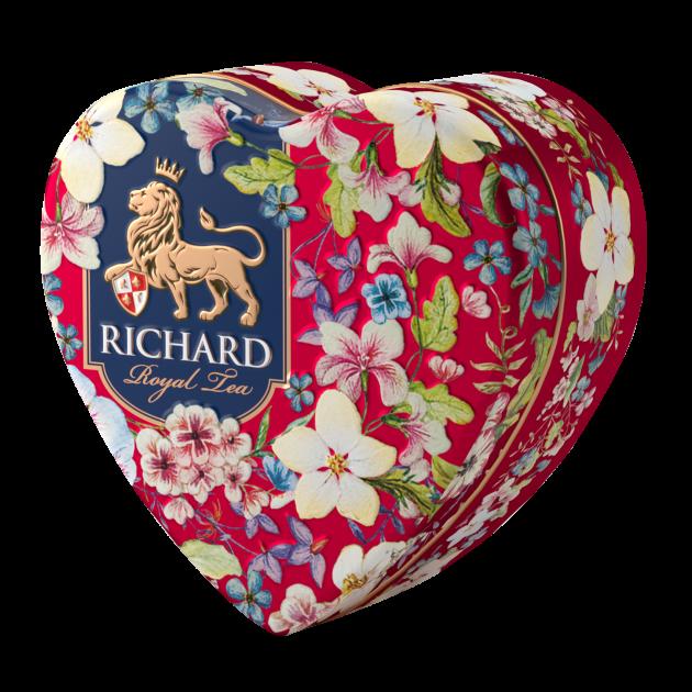 Чай в подарок | Чай Ричард Королевское сердце 30 г в жестяной банке