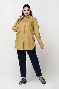 Блузка большого размера RMD1325-B-19DB (горчица цвет)