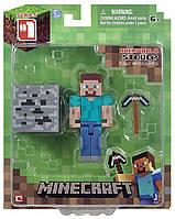 Стив с киркой фигурка Майнкрафт Minecraft Core Steve Action Figure оригинал Jazwares