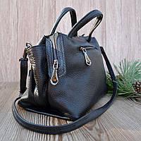 Женская классическая сумка из натуральной кожи (1819/Black)