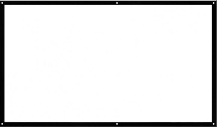 Экран для проектора натяжной 100 дюймов рулонный 16:9 UKC