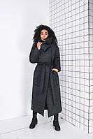 Модное длинное женское пальто одеяло