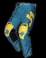 Мото штаны JUST1 J-FORCE TERRA синий/желтый