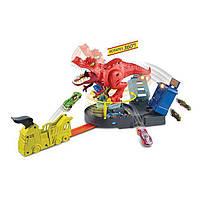 Трек Хот Вилс Злой голодный Ти-Рекс Hot Wheels T-Rex Rampage Play Set трэк атака динозавра Рекса оригинал