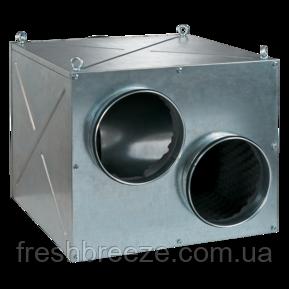 Відцентровий вентилятор з загнутими вперед лопатками у звуко-теплоізольованому корпусі КОД 315/250x2 C-4E