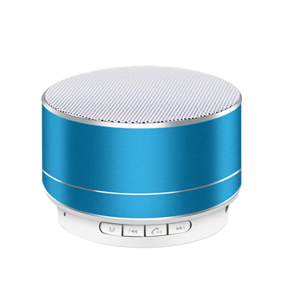 Портативная Bluetooth колонка SPS S10 New с LED подсветкой голубой