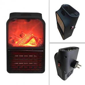 Портативный обогреватель мини камин дуйка Flame Heater 900W с пультом, фото 2